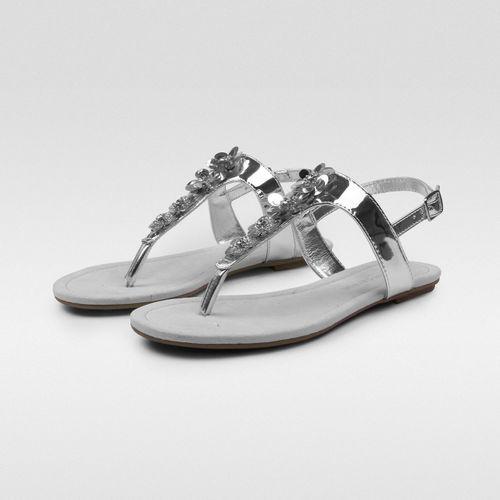 Sandalia-Flip-Flop-Metalica-Flores