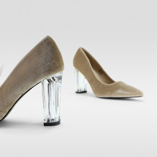 Stiletto-Tacon-Transparente